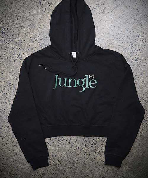 Jungle Girl Crop Hood - black