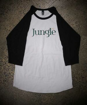 Jungle HQ Baseball 3/4 Tee: Grey Marle/Ashpalt