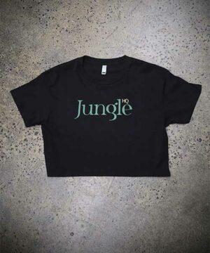 Jungle Girl Crop Tee - black