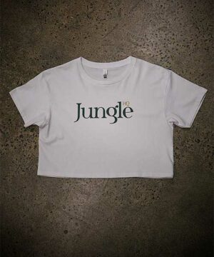 Jungle Girl Crop Tee - white