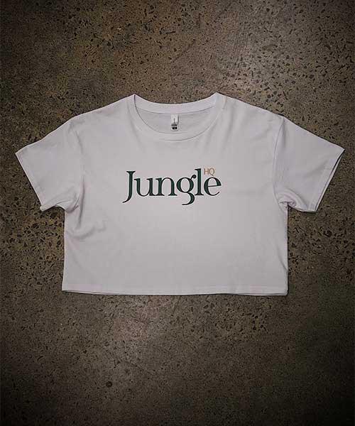 Jungle Girl Crop Tee - white