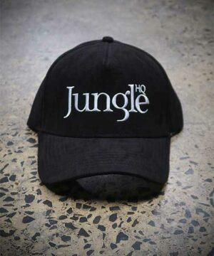 Jungle Suede A-Frame Snapback - black