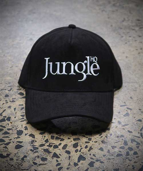 Jungle Suede A-Frame Snapback - black